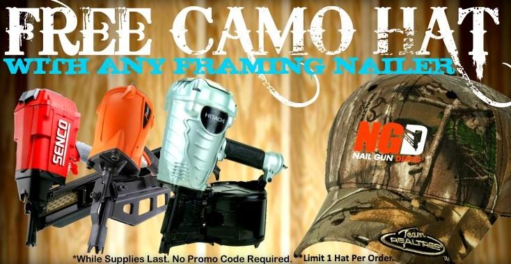 Framing Nailer Camo Hat