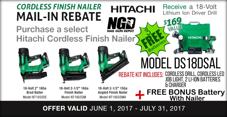 Hitachi Mail-In DS18DSAL Rebate