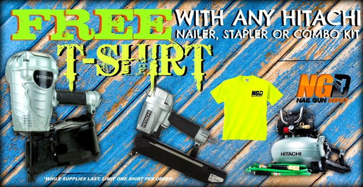 Free T-Shirt with Hitachi Tool Deal