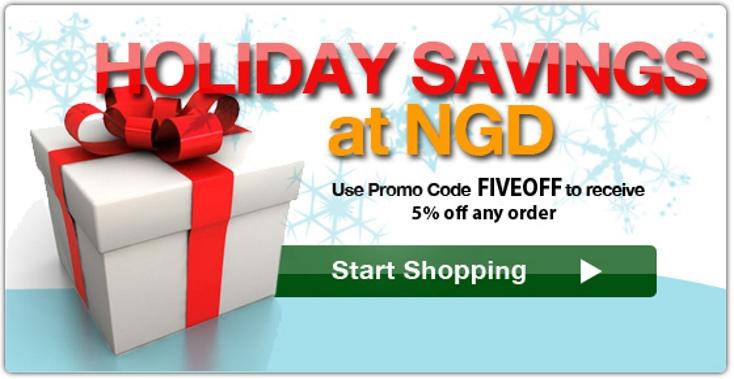 Holiday 5% Promo Code