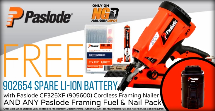 Paslode Cordless Framing Nailer Battery Deal