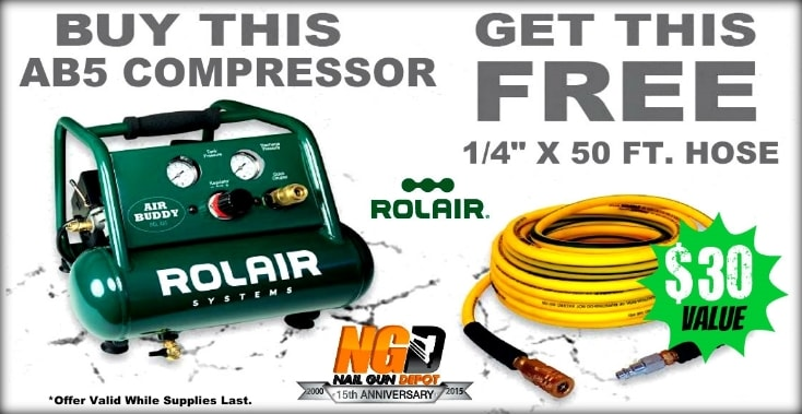 Rol Air Free Hose with AB5 Compressor