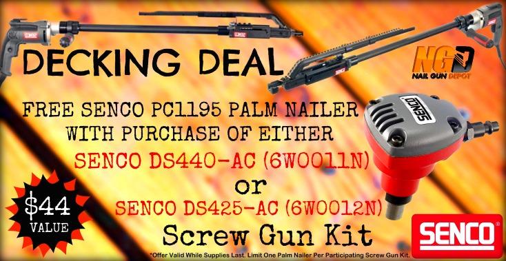 Senco DuraSpin Palm Nailer Promo
