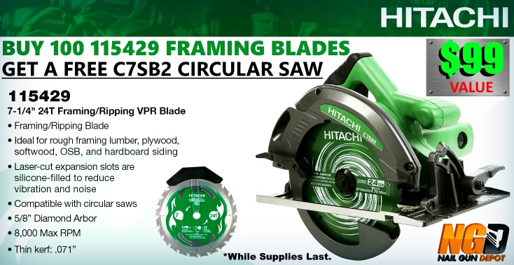 Free Hitachi C7SB2 Promo