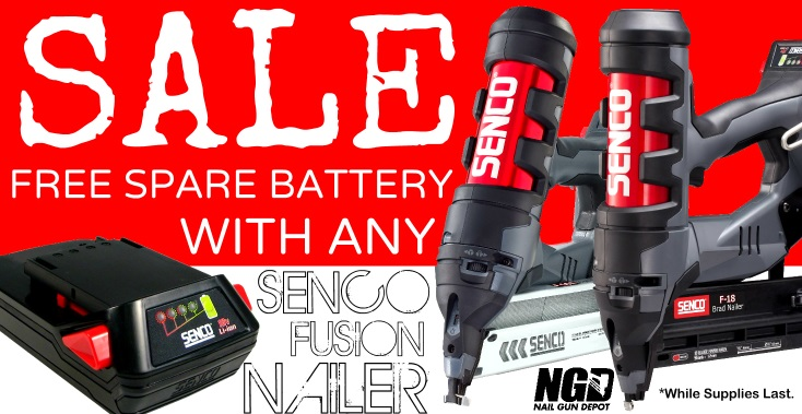 Senco Fusion Free Battery Deal