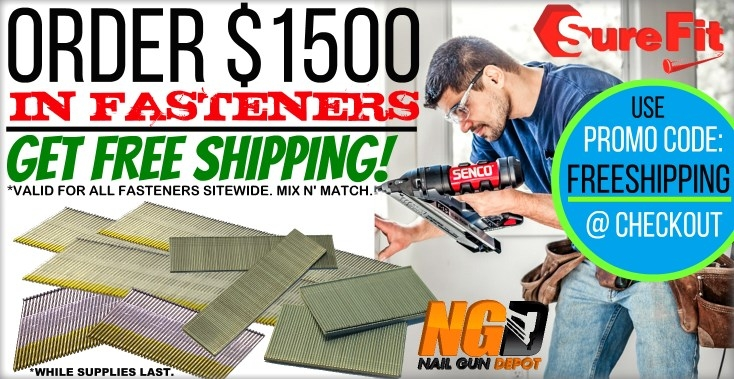Free shipping on fasteners