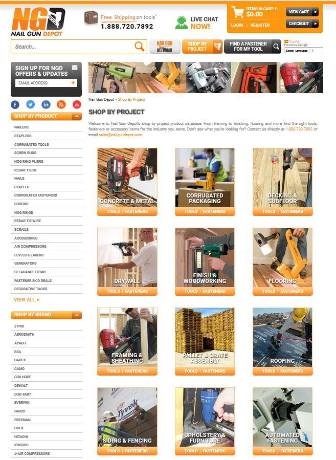 Nail Gun Depot Shop By Project