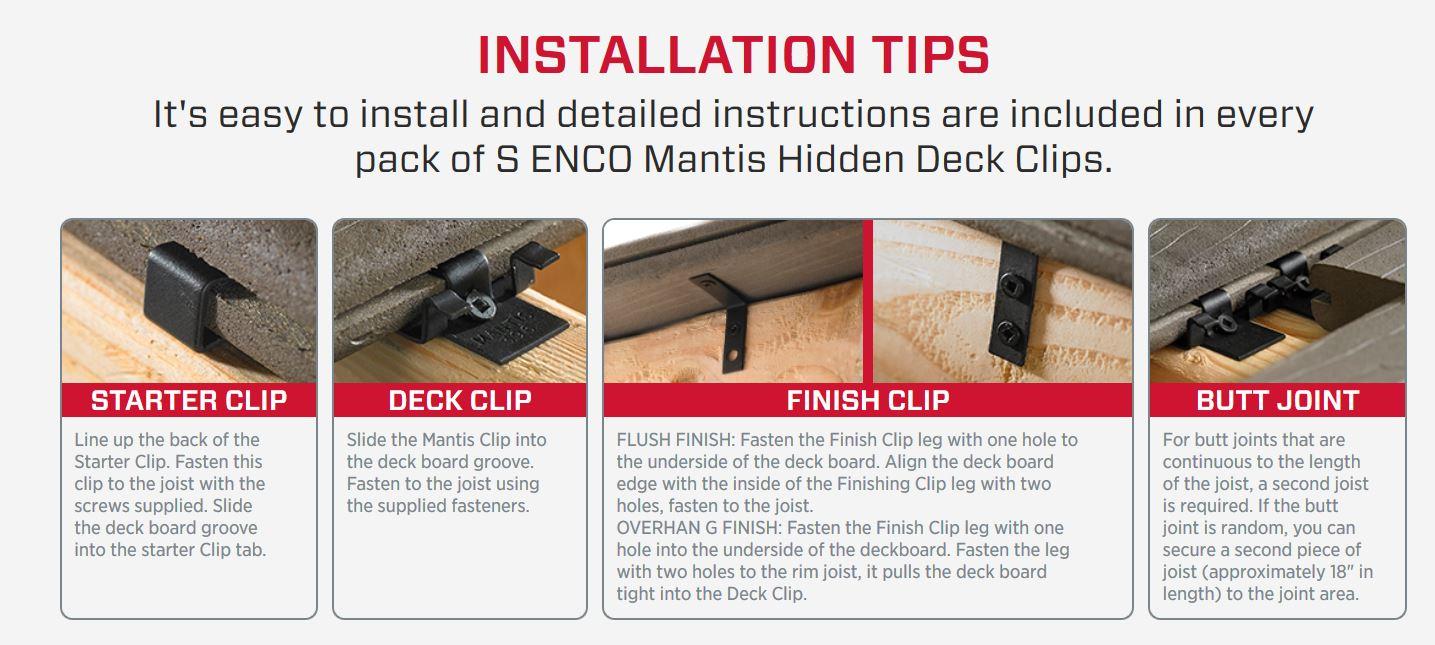 Senco Deckclip Installation