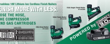 Product Video: Introducing Hitachi 18 Volt Cordless Nailers