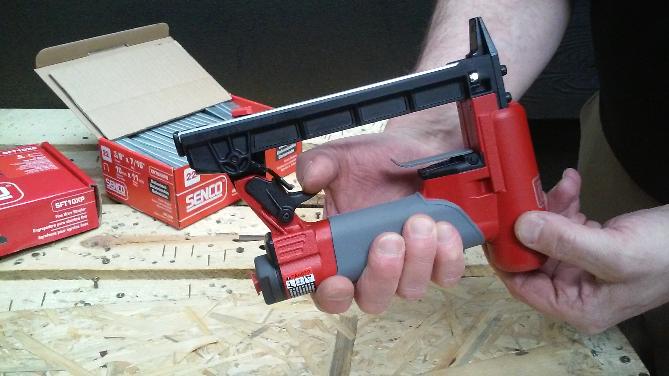 How to load bottom feed staple gun step 1