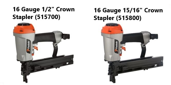 Paslode New 16 Gauge Construction Staplers