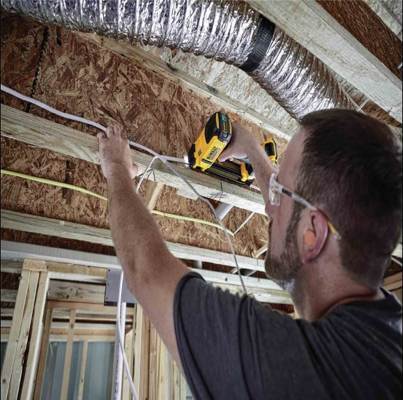 Installing Cable with the Dewalt DCN701 Cordless Stapler