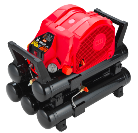 The heart of the PowerLite system is its air compressors, here the 5-tank AKHL 1260EX