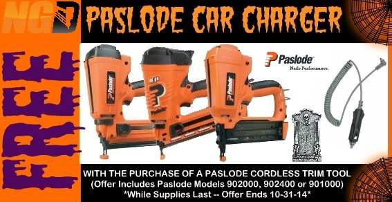Free Paslode Car Charger