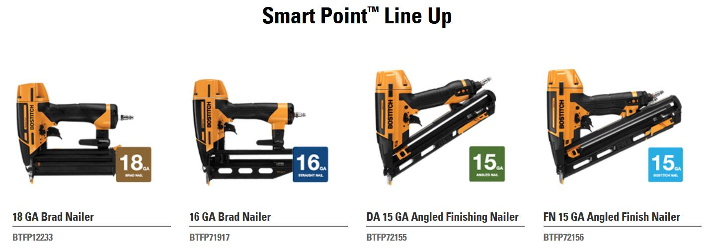 Bostitch Releases New Smart Point Finish U0026 Brad Nailers