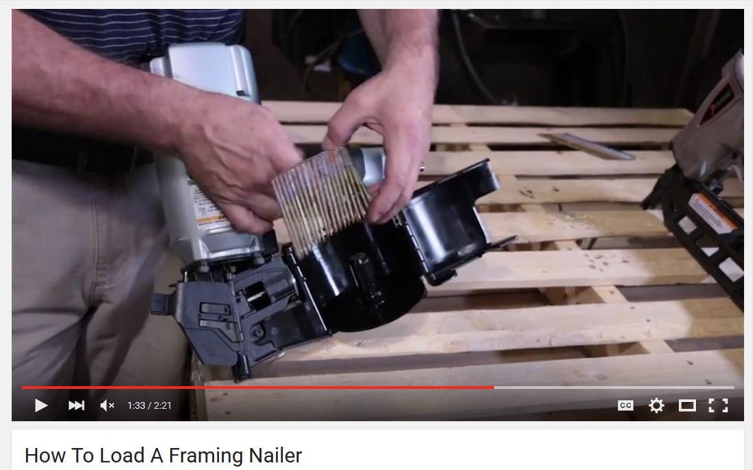 How To Load A Framing Nailer